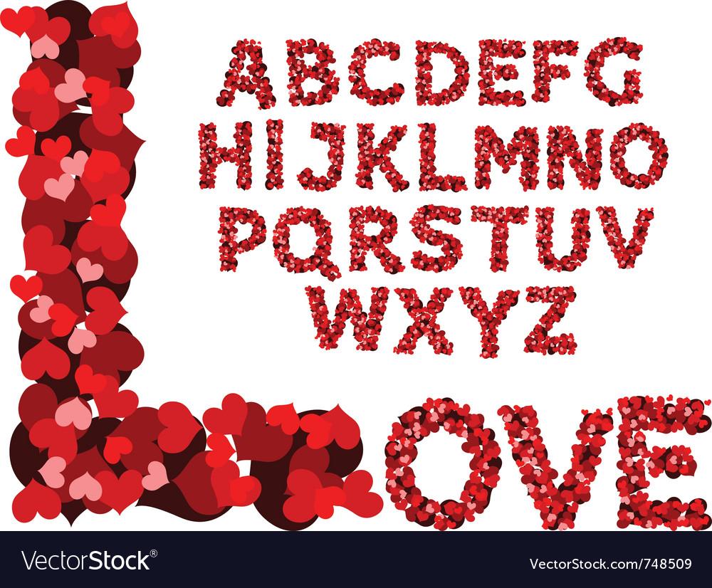 Valentine alphabet vector | Price: 1 Credit (USD $1)
