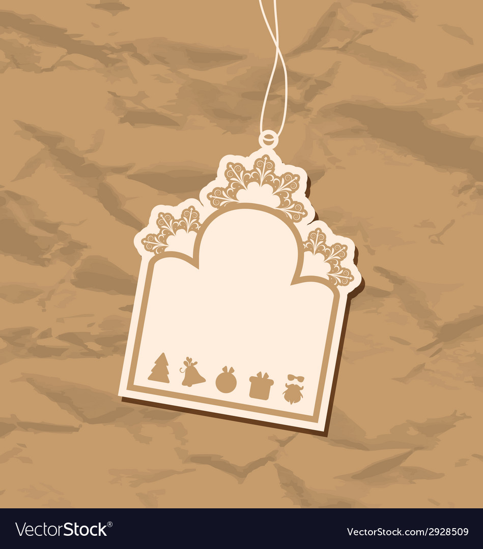 Vintage blank badge with christmas elements vector | Price: 1 Credit (USD $1)