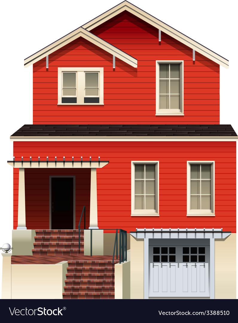 A big wooden house vector | Price: 3 Credit (USD $3)