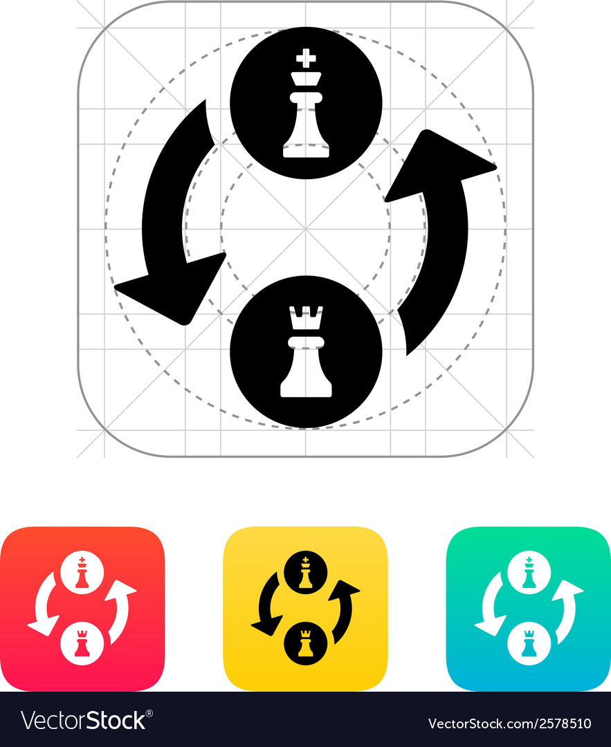 Castling icon vector | Price: 1 Credit (USD $1)