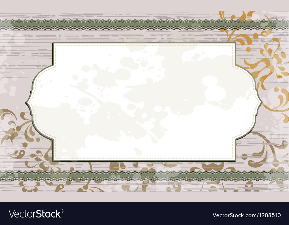 Floral background with white frame vector | Price: 1 Credit (USD $1)