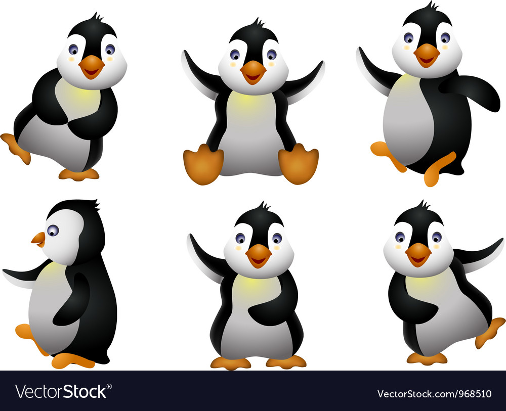 Happy young penguin character vector | Price: 3 Credit (USD $3)