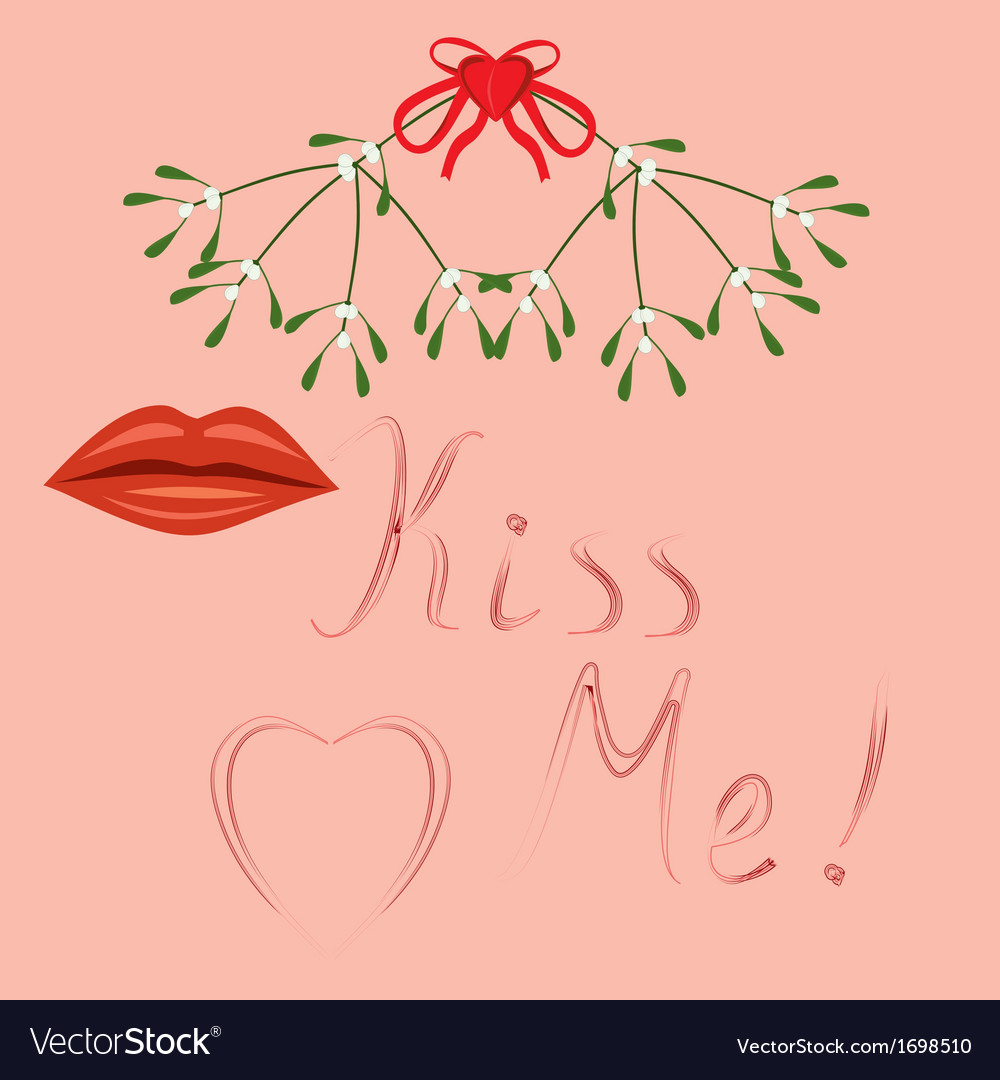 Kiss me vector | Price: 1 Credit (USD $1)