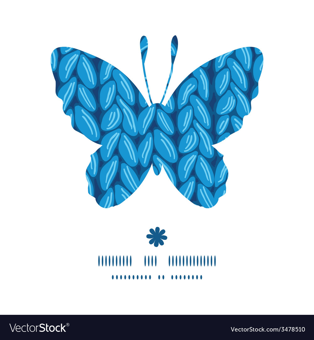 Knit sewater fabric horizontal texture butterfly vector | Price: 1 Credit (USD $1)