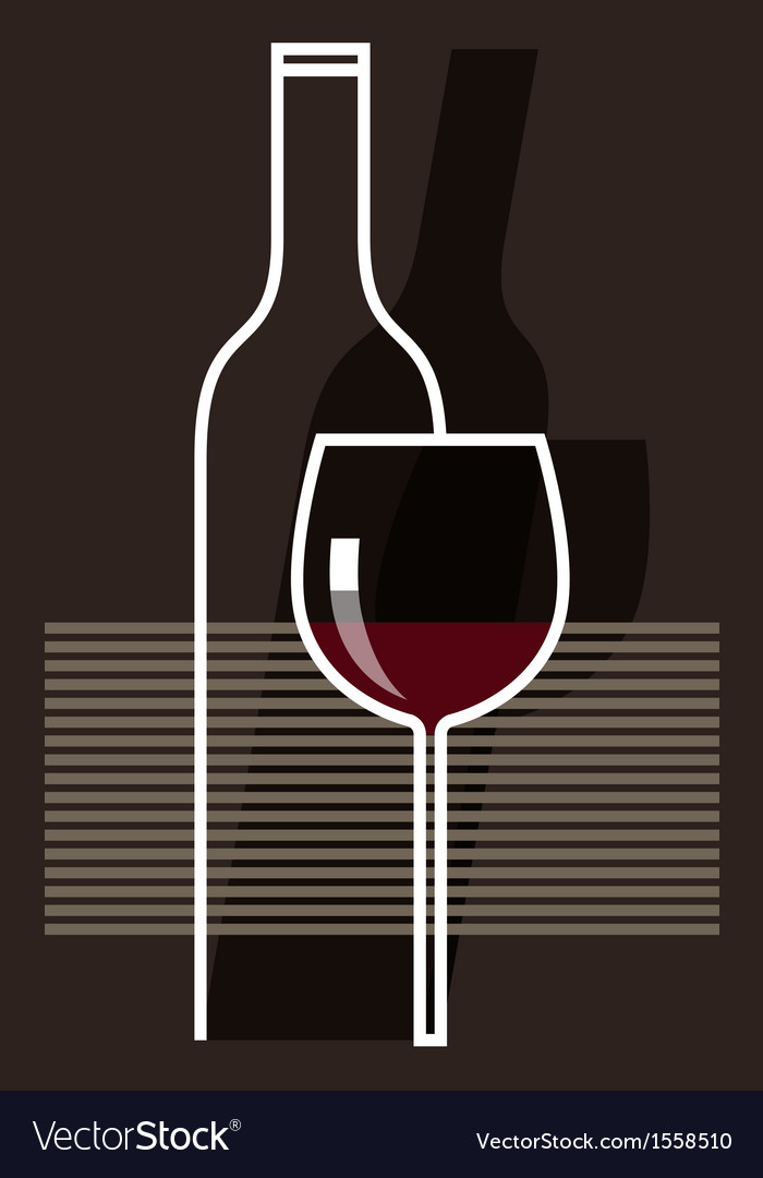 Red wine and glass vector | Price: 1 Credit (USD $1)