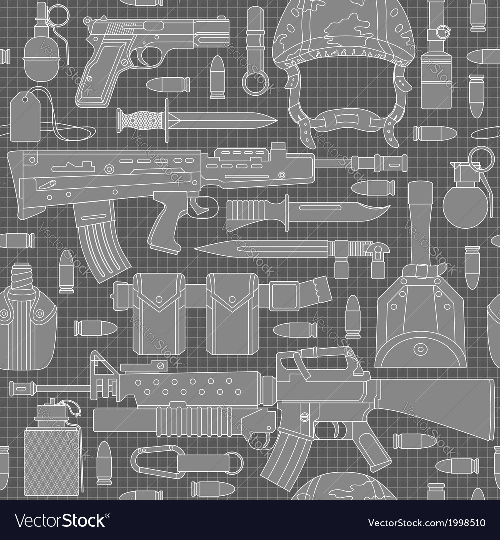 Seamless military pattern 01 vector | Price: 1 Credit (USD $1)