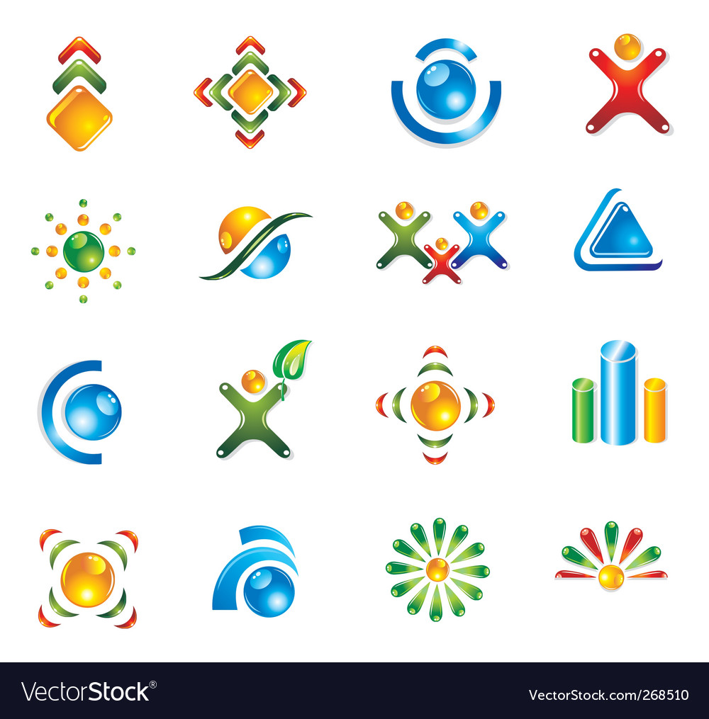 Set of 3d design elements vector | Price: 1 Credit (USD $1)
