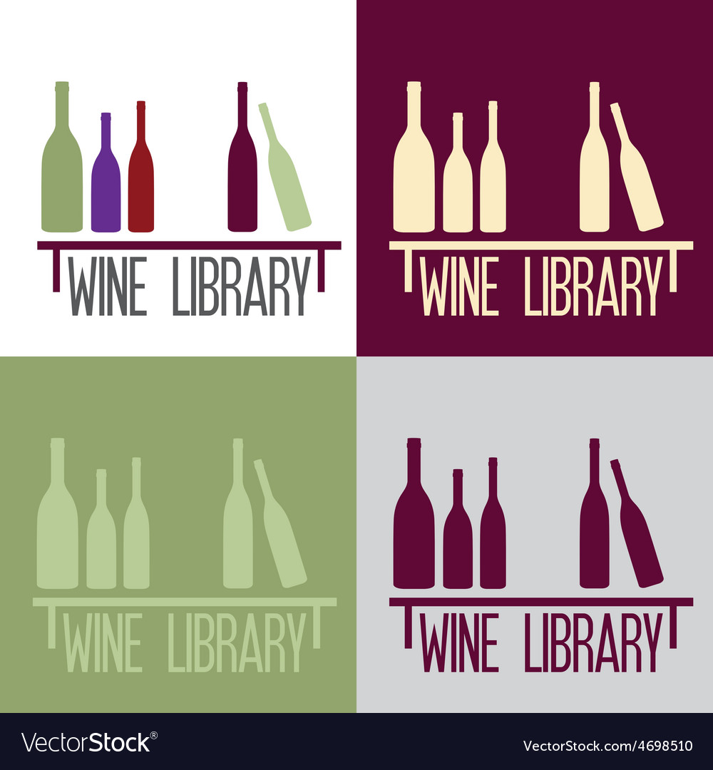 Wine library concept vector | Price: 1 Credit (USD $1)