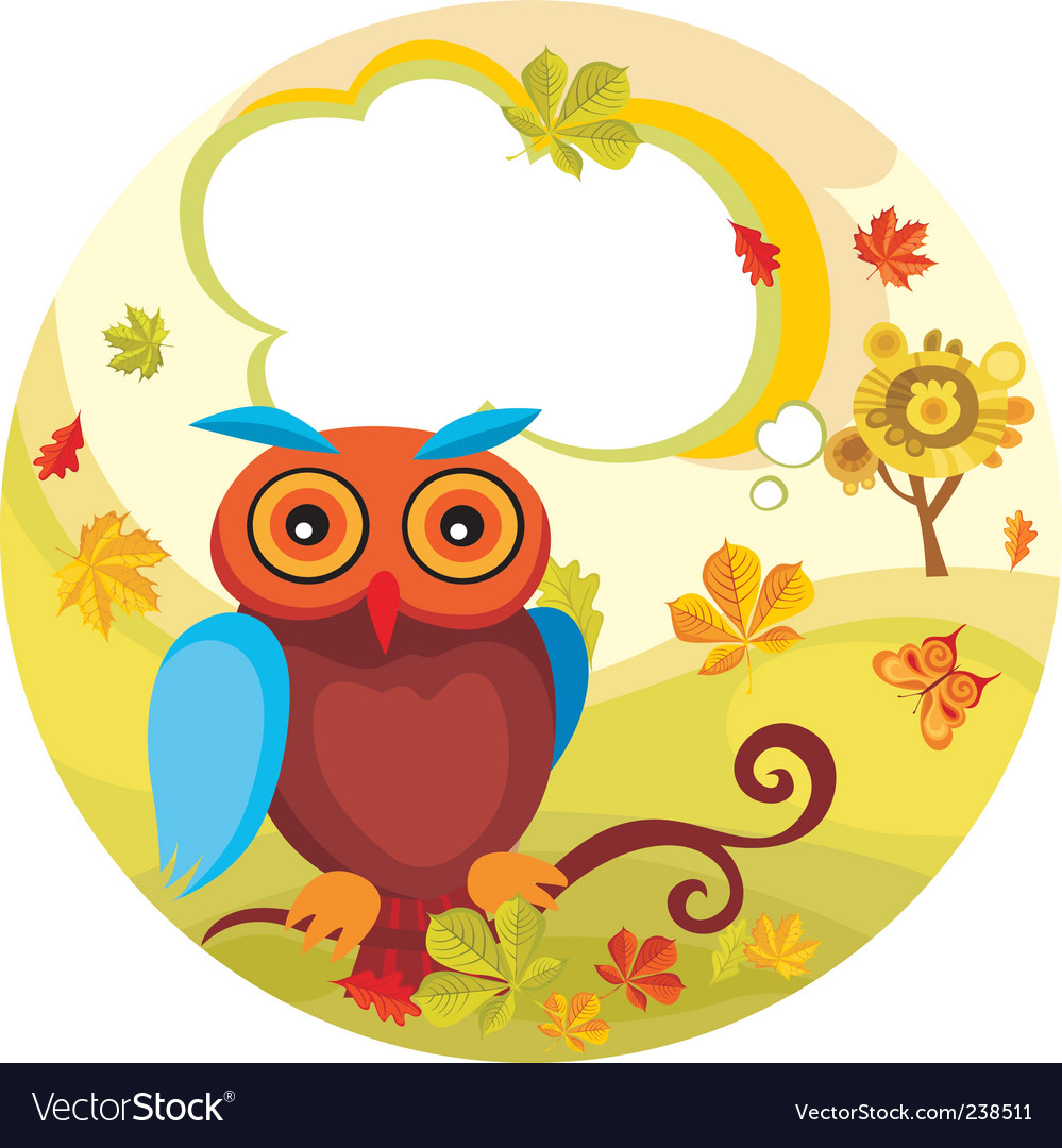 Autumn card vector | Price: 1 Credit (USD $1)