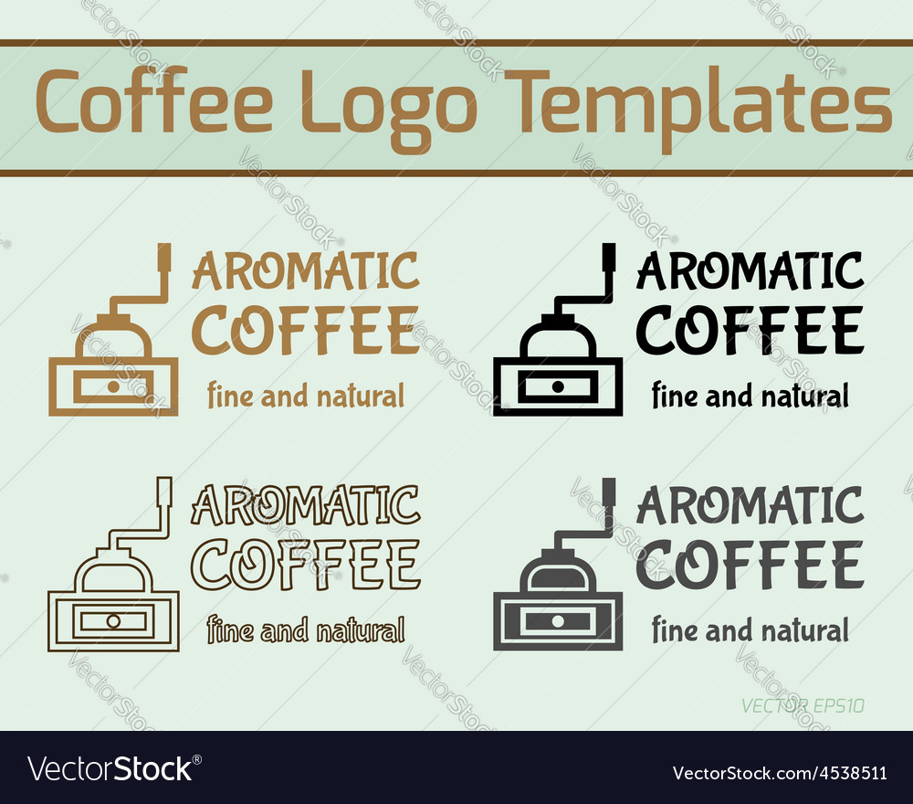 Coffee cafe icon logo template and business cards vector | Price: 1 Credit (USD $1)