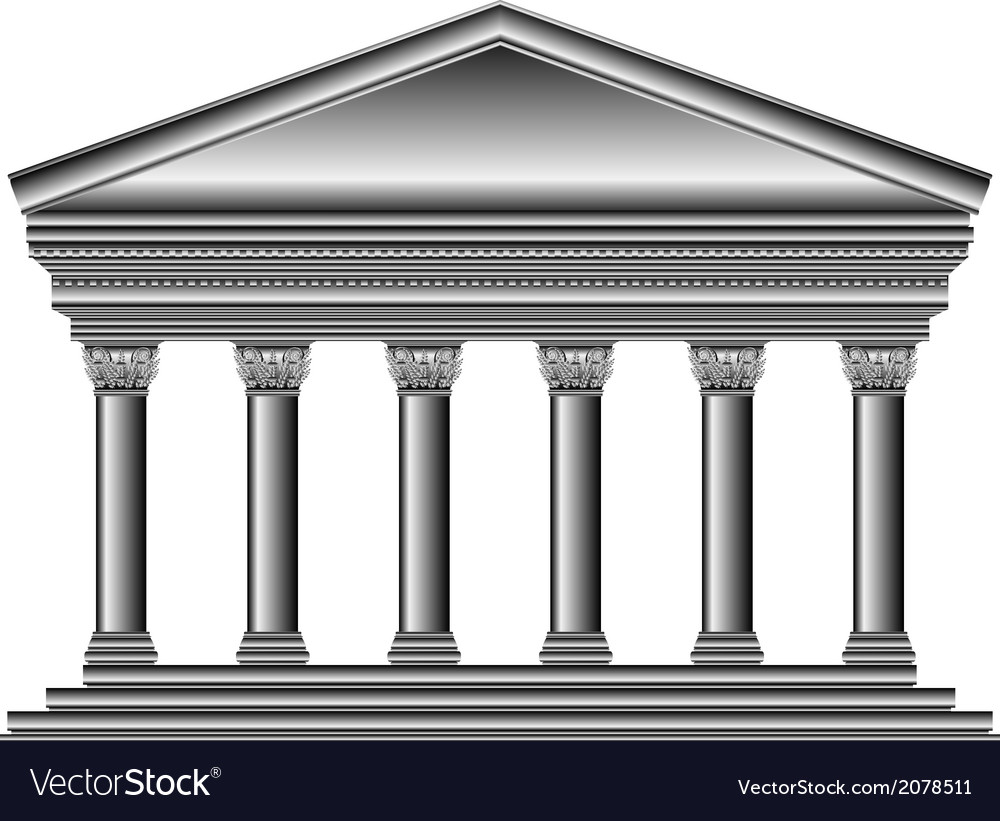 Corinthian temple vector | Price: 1 Credit (USD $1)