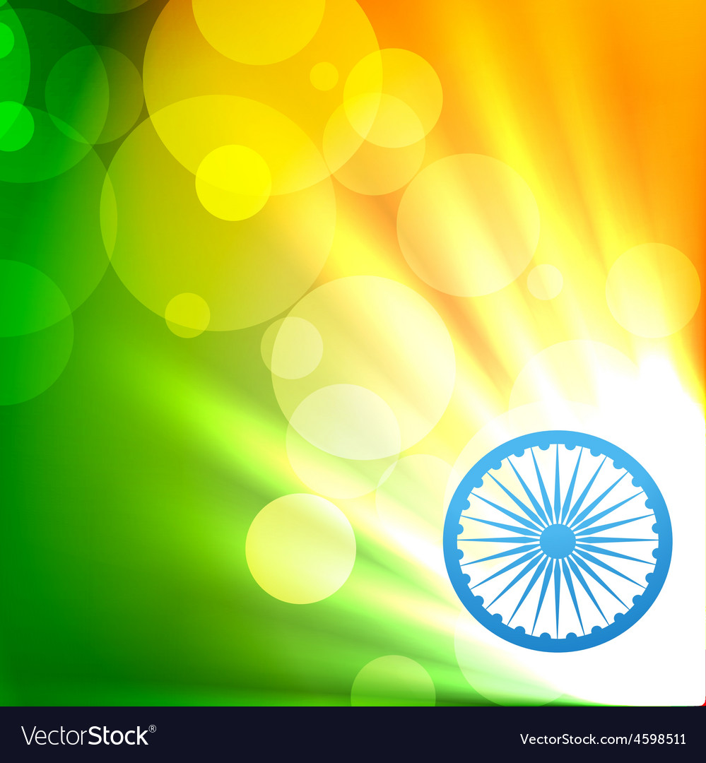 Glowing indian flag vector | Price: 1 Credit (USD $1)