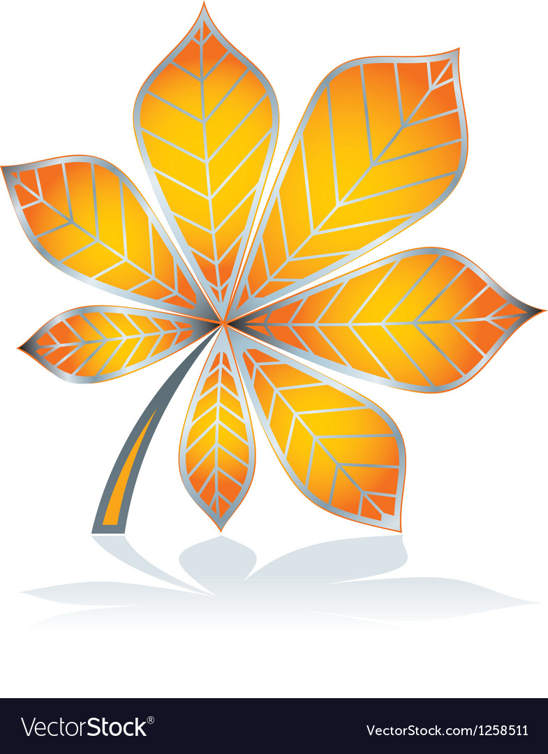 Icon chestnut leave vector | Price: 1 Credit (USD $1)