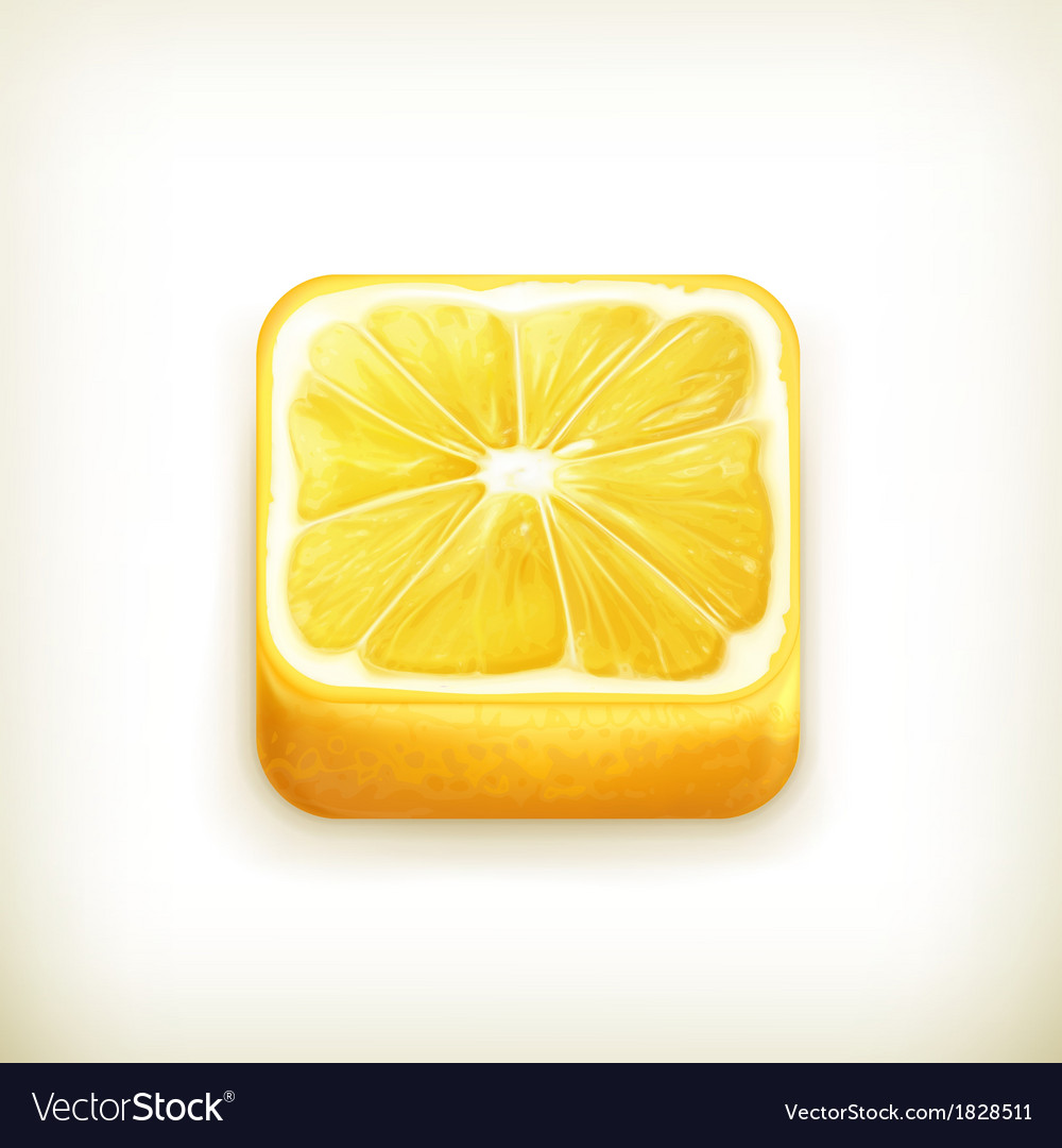 Lemon app icon vector | Price: 1 Credit (USD $1)