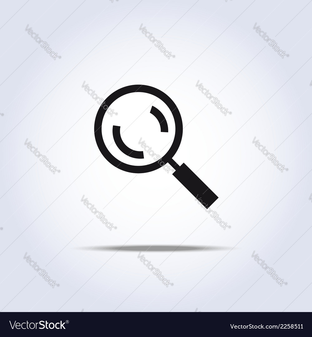 Magnifier icon vector | Price: 1 Credit (USD $1)