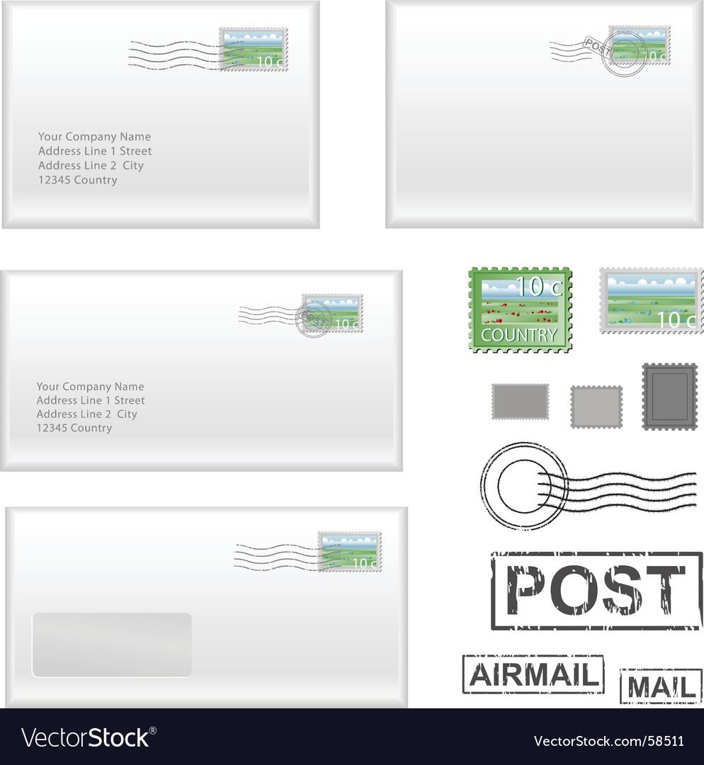 Mail address vector | Price: 1 Credit (USD $1)