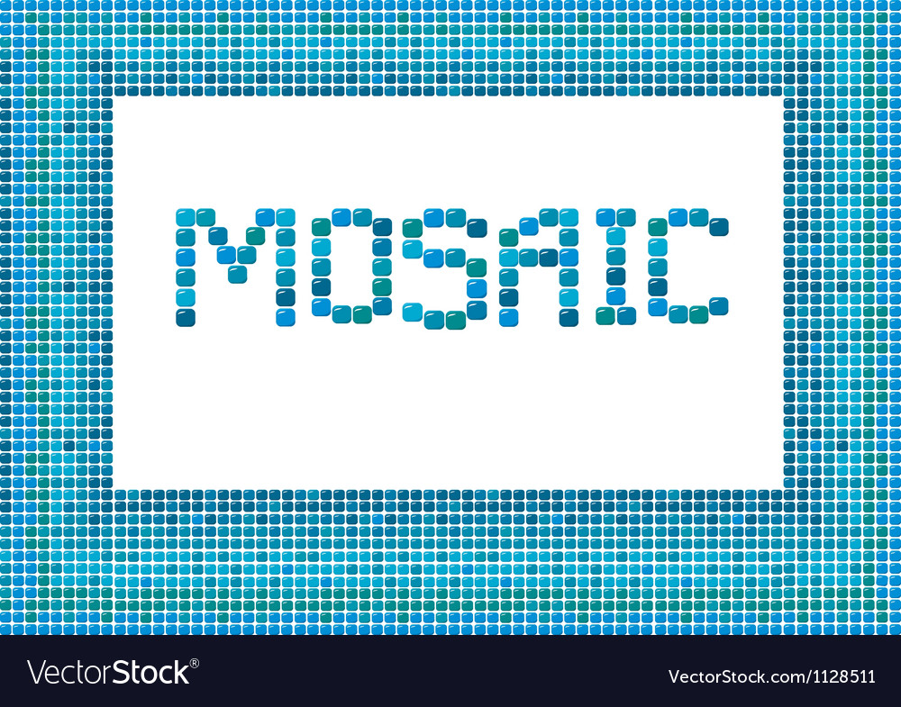 Mosaic frame landscape 2 380 vector | Price: 1 Credit (USD $1)