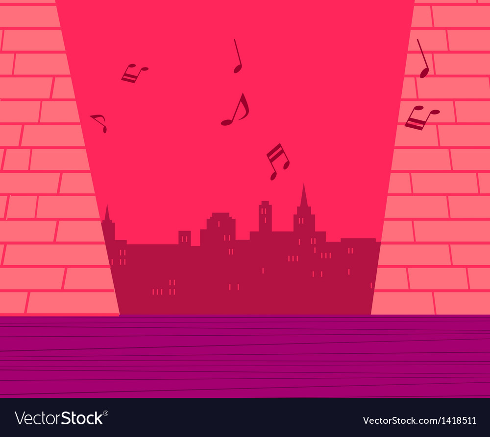 Music cityscape vector | Price: 1 Credit (USD $1)