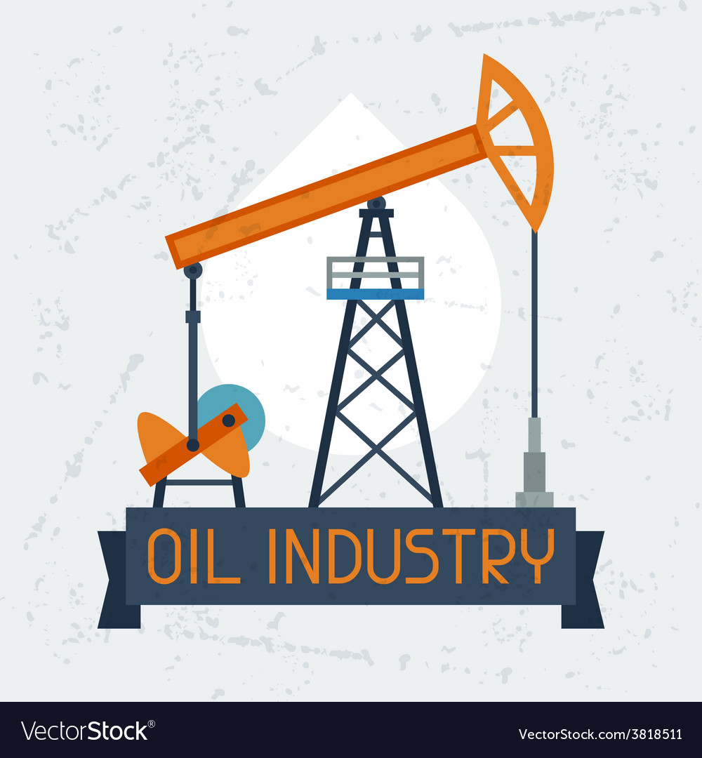 Oil pump jack background vector | Price: 1 Credit (USD $1)