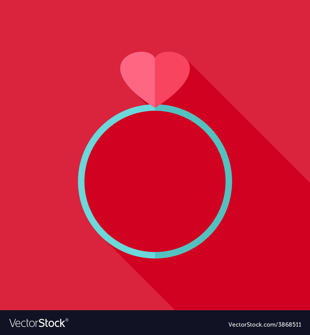 Ring with heart vector | Price: 1 Credit (USD $1)