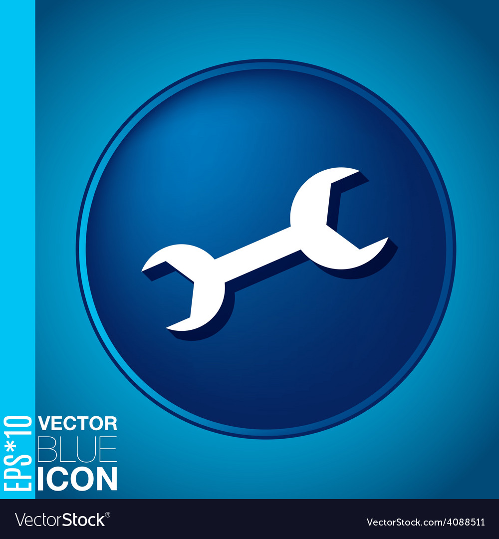 Symbol settings wrench vector | Price: 1 Credit (USD $1)