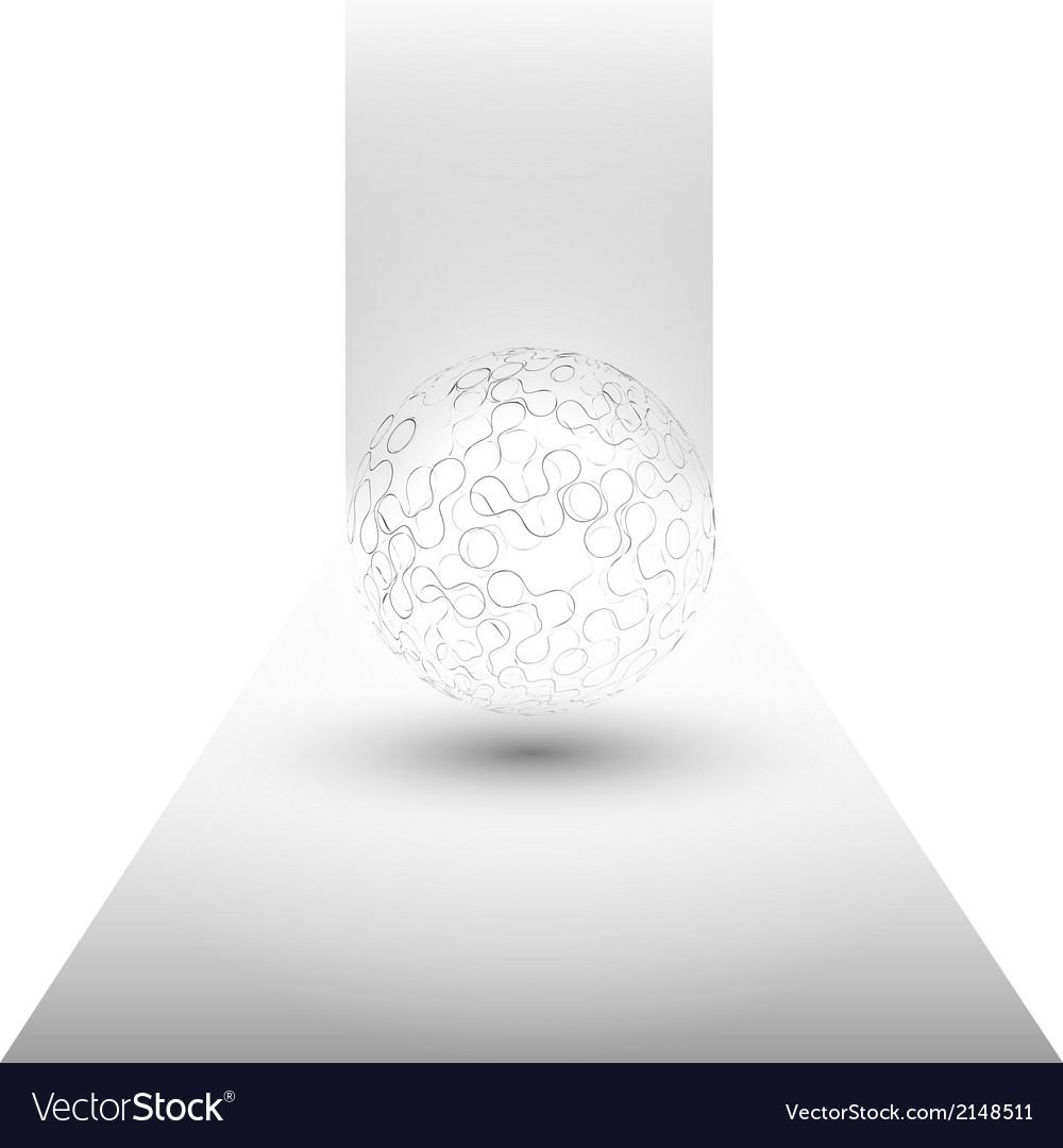 Transparent sphere background vector   Price: 1 Credit (USD $1)