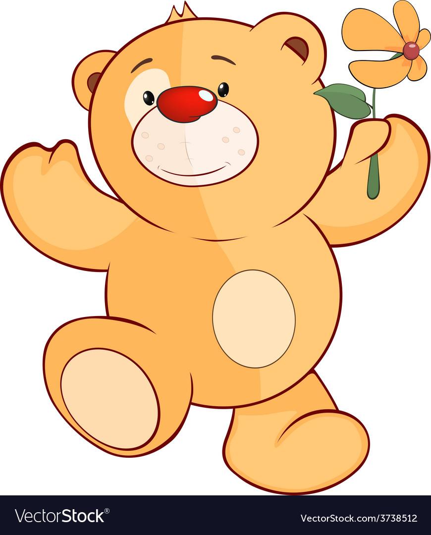 A stuffed toy bear cub cartoon vector | Price: 1 Credit (USD $1)