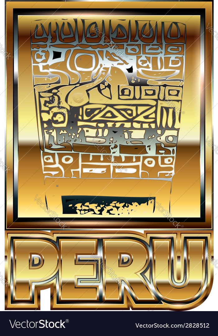 Ancient peruvian gold ornament vector | Price: 1 Credit (USD $1)