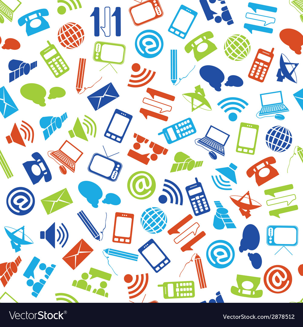 Communication seamless pattern vector   Price: 1 Credit (USD $1)