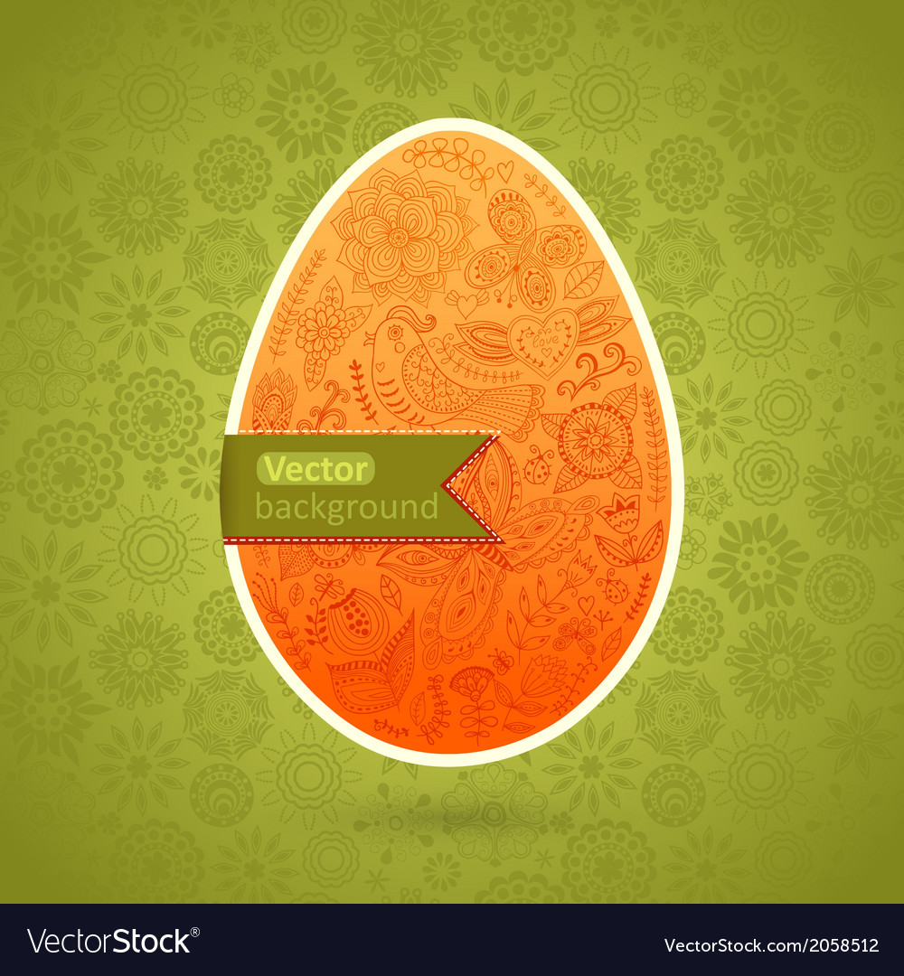 Easter egg made of flowers floral easter egg vector | Price: 1 Credit (USD $1)