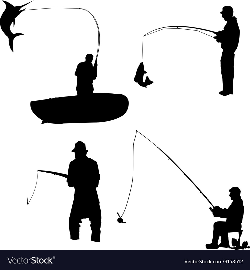 Fishermen vector | Price: 1 Credit (USD $1)