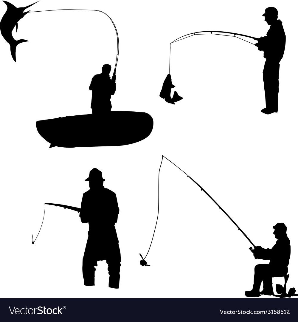 Fishermen vector | Price: 1 Credit (USD $1)