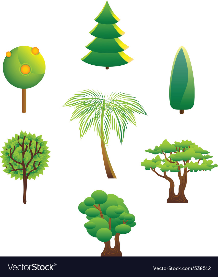Forest icons vector | Price: 1 Credit (USD $1)
