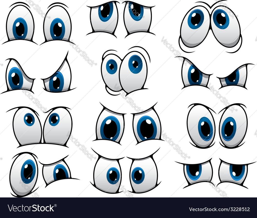 Funny cartoon eyes set vector   Price: 1 Credit (USD $1)