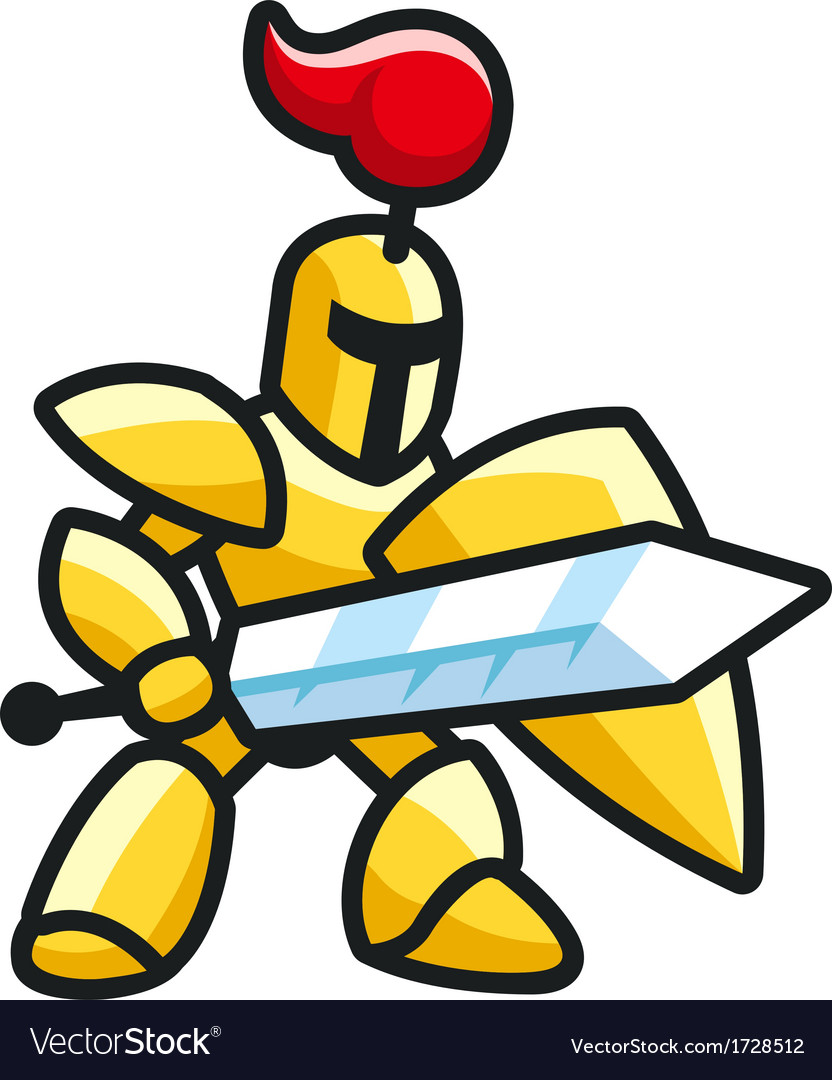 Golden knight vector | Price: 1 Credit (USD $1)