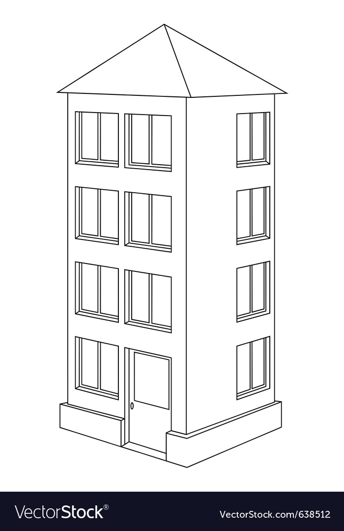 House contour vector | Price: 1 Credit (USD $1)