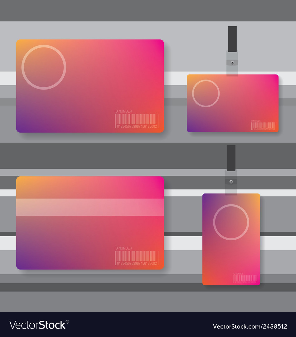 Id card abstract vector | Price: 1 Credit (USD $1)