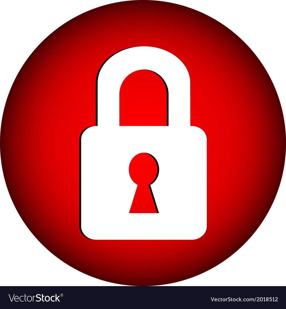 Lock button vector   Price: 1 Credit (USD $1)