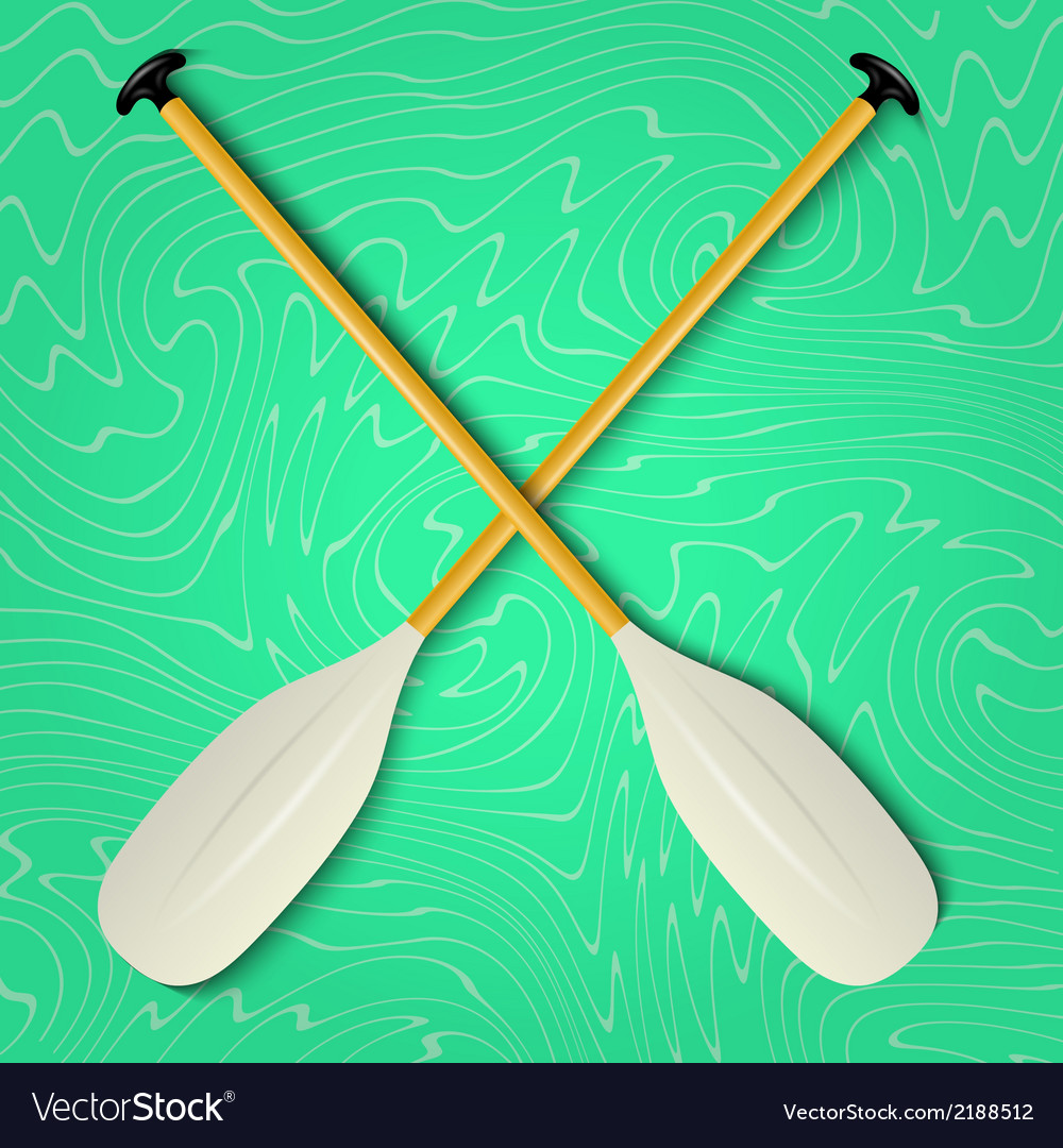 Professional canoe oars vector | Price: 1 Credit (USD $1)