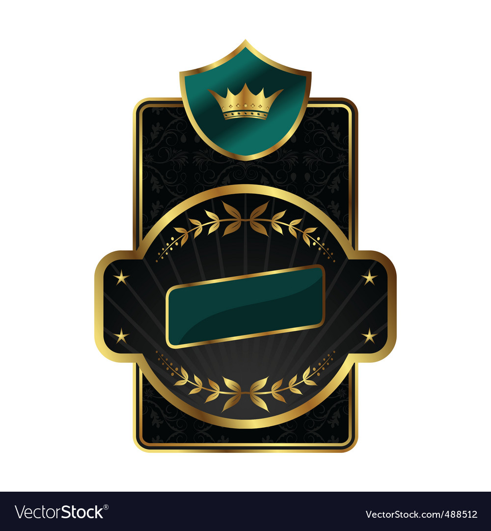 Royal label with golden frame vector | Price: 1 Credit (USD $1)