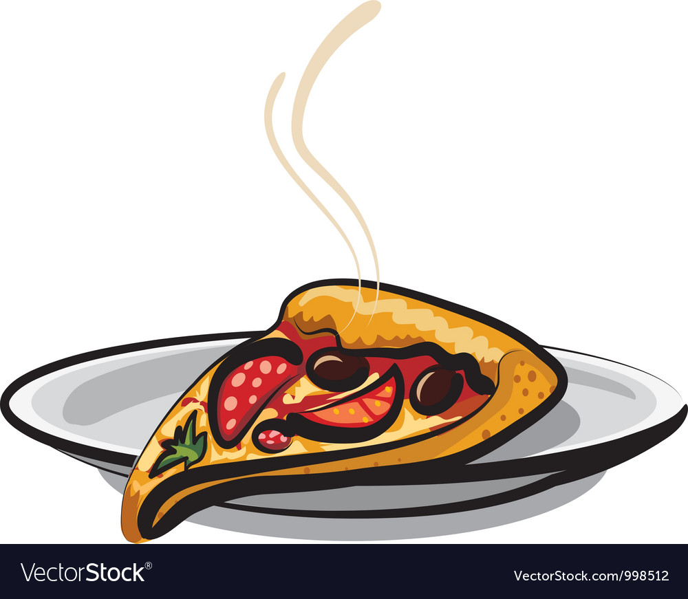 Slice of pizza vector | Price: 3 Credit (USD $3)