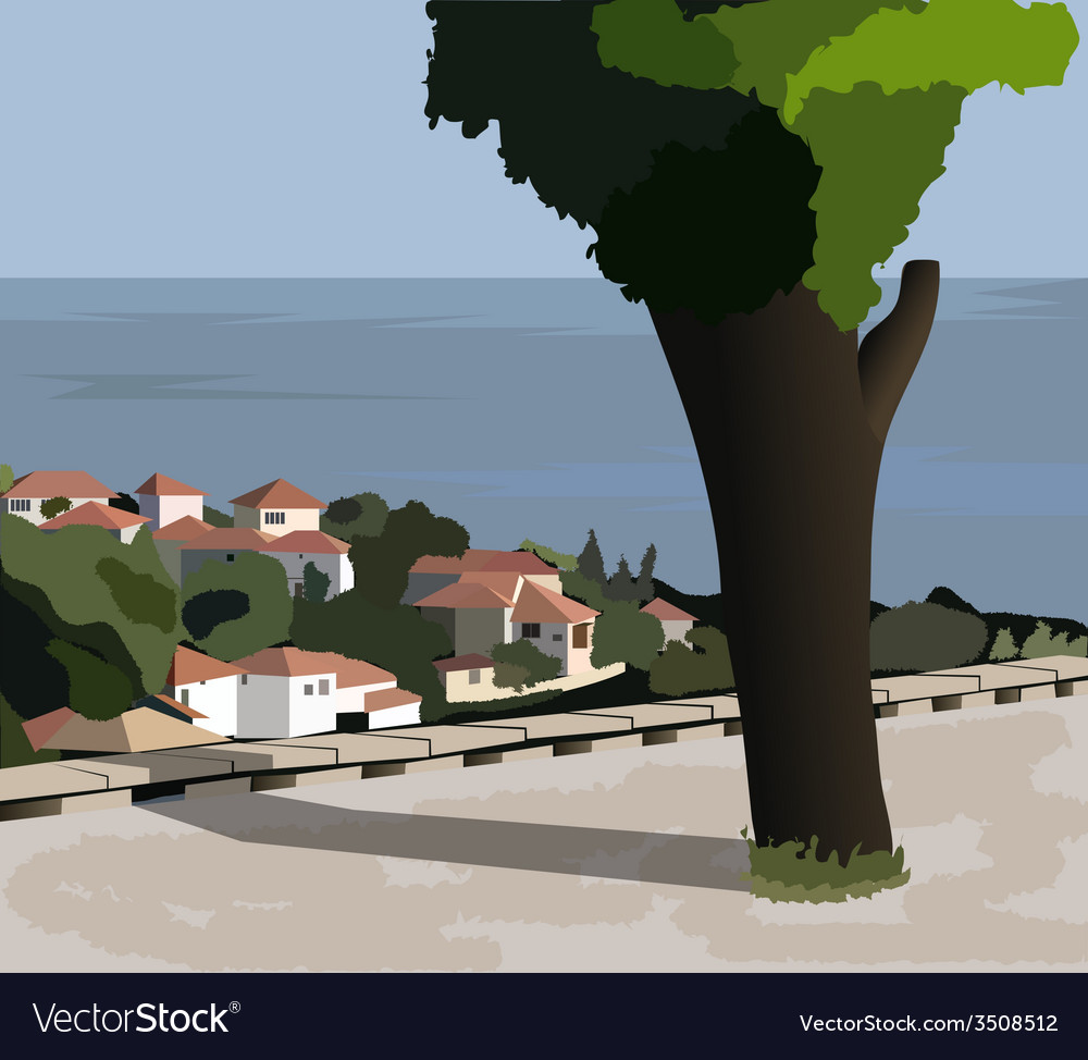 The town of balchik bulgaria vector | Price: 1 Credit (USD $1)