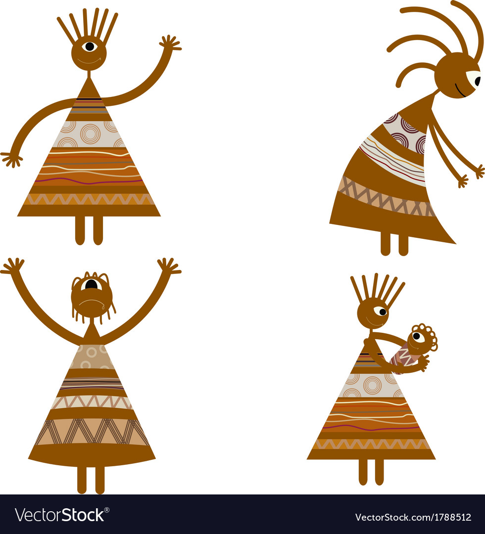 Tribal african womans vector | Price: 1 Credit (USD $1)