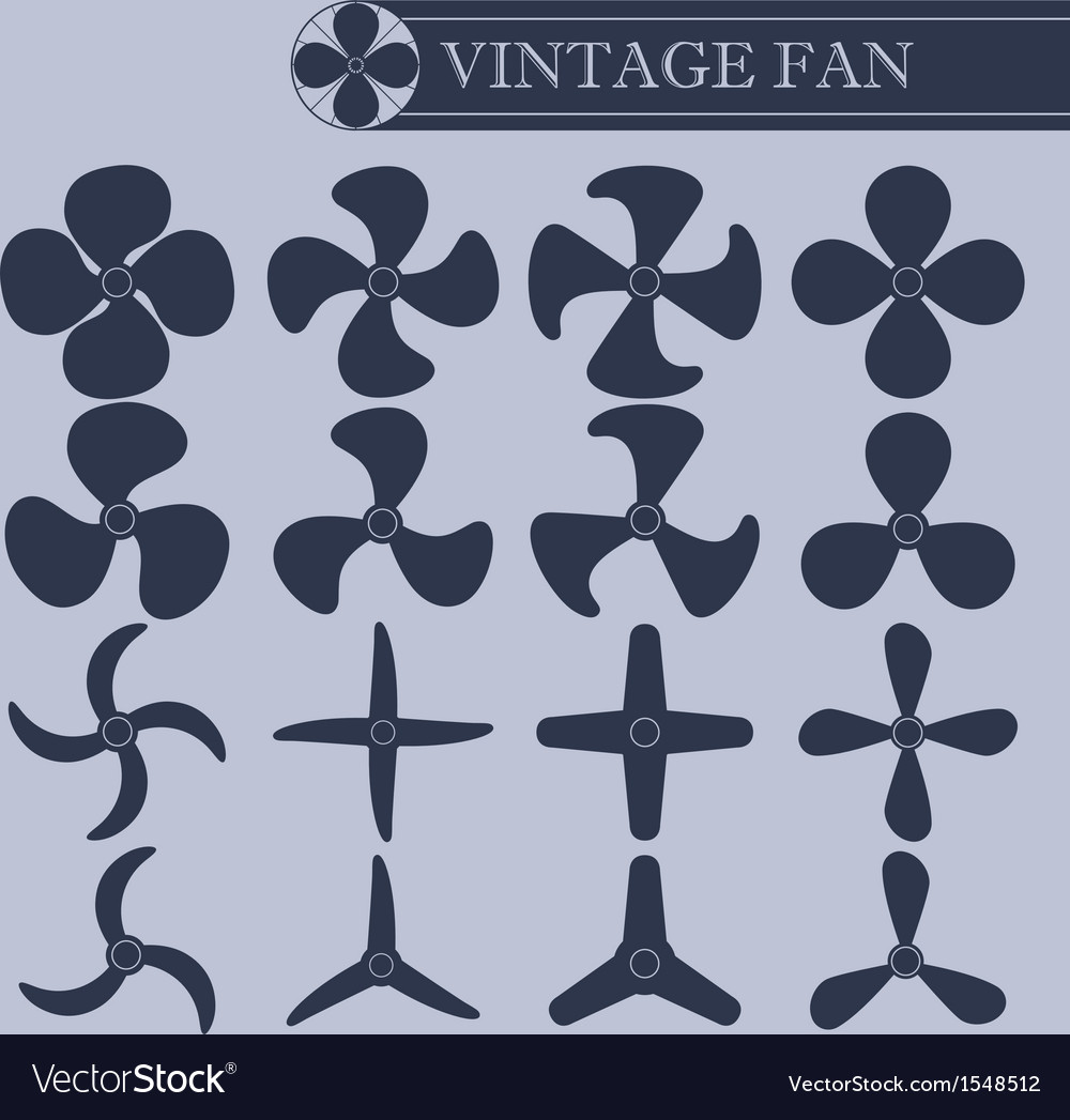 Vintage fan part vector | Price: 1 Credit (USD $1)