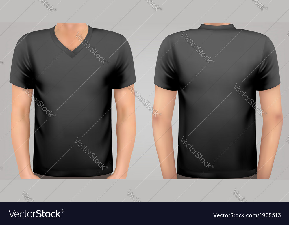 A male body with a black shirt on vector | Price: 1 Credit (USD $1)