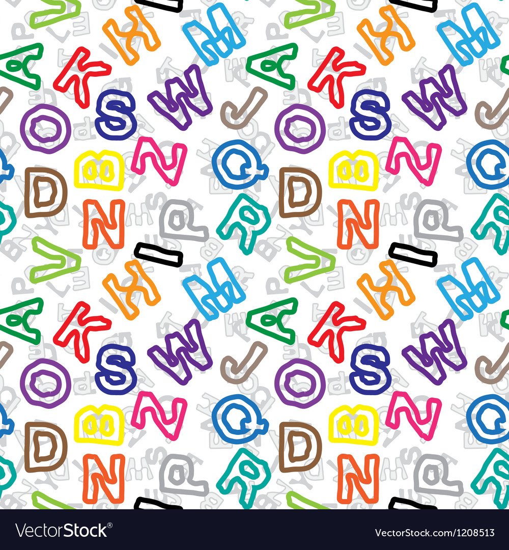 Alphabet letters pattern background vector   Price: 1 Credit (USD $1)