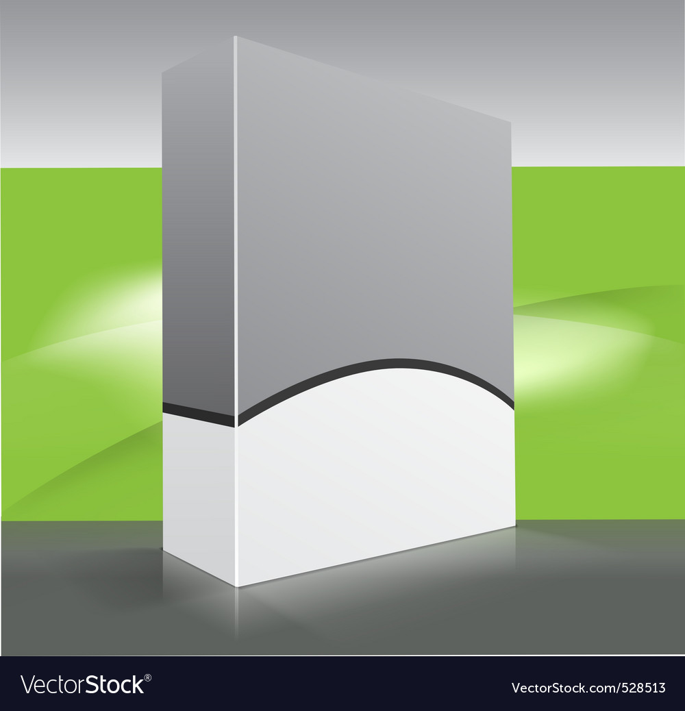 Blank dvd box on background vector | Price: 1 Credit (USD $1)