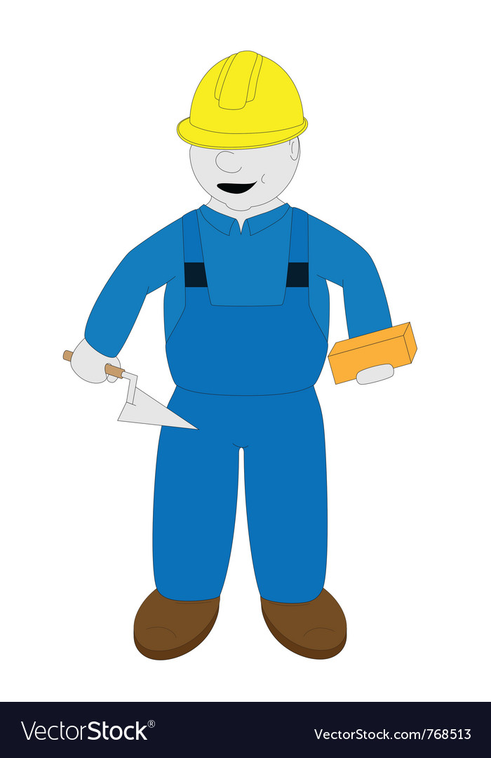 Bricklayer vector | Price: 1 Credit (USD $1)