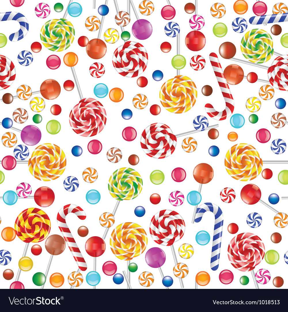 Candies seamless background vector | Price: 1 Credit (USD $1)