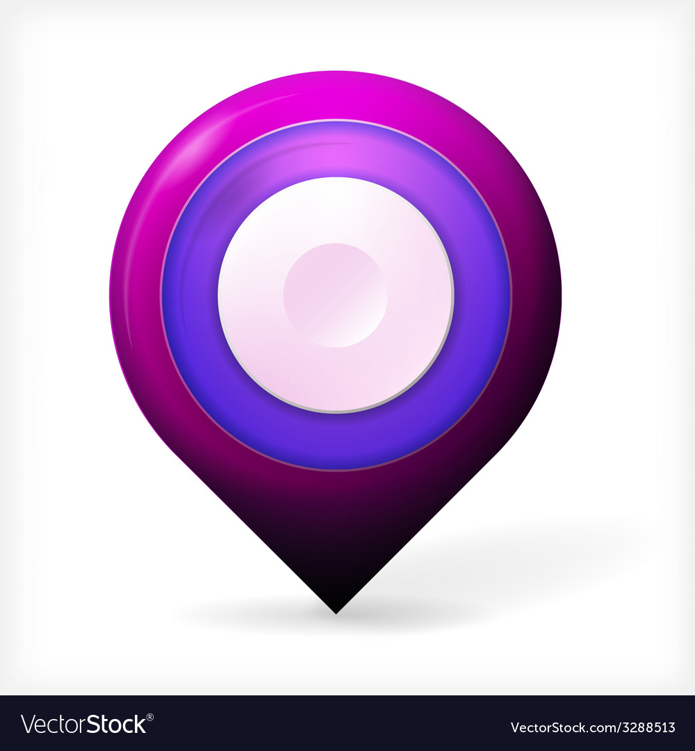 Colored realistic icon for marker geolocation vector | Price: 1 Credit (USD $1)